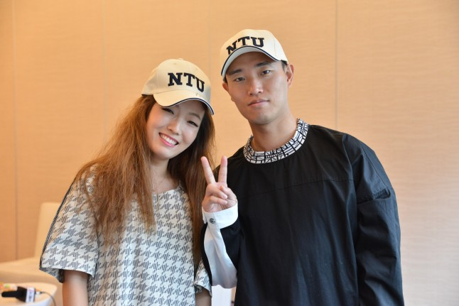 Kpop singer Jung-In and Running Man host Kang Gary