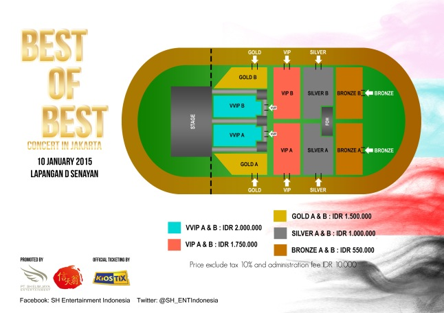Best of Best Concert in Jakarta Seating plan