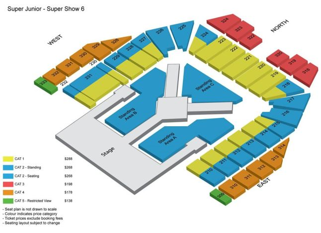 Super Junior Seat Plan