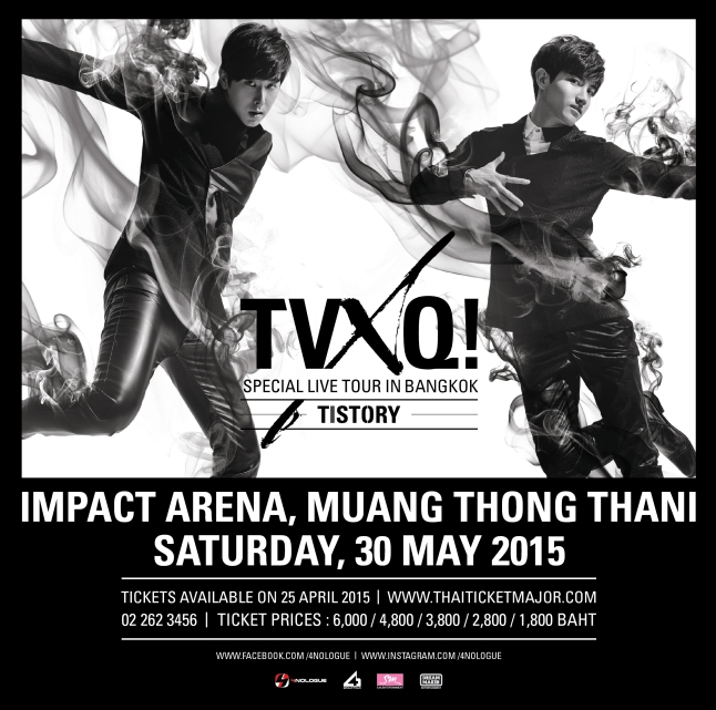 TVXQ! SPECIAL LIVE TOUR – T1ST0RY – IN BANGKOK - IG 2.0