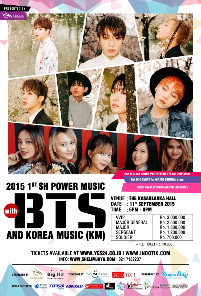 Poster 2015 1st SH Power Music with BTS & KM