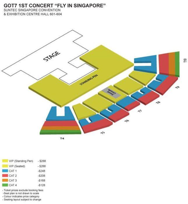 GOT7 concert seat plan