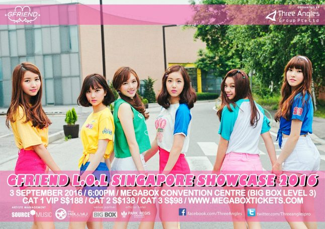 Gfriend Showcase in SG poster