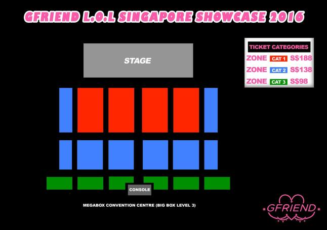 Gfriend Showcase in SG seatplan
